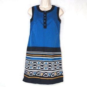 Ann Taylor Loft Sheath Dress Women Size 0 Blue